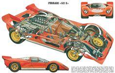 Ferrari 512S cutaway