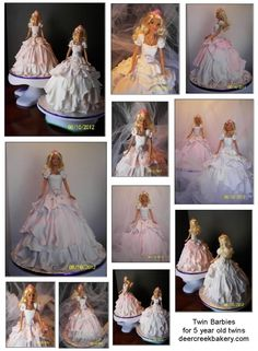 Oh my goodness... how I wish my girls were still young enough to want barbie cakes :) these are stunning!!!!