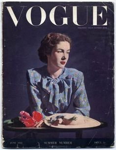 U.K. British Vogue June, 1944 (War times...) // Lee Miller photo
