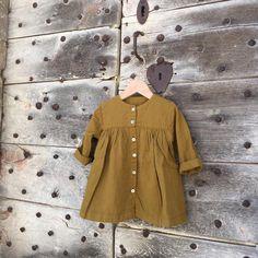 Rochie Poudre Organic din muselina - Cassonade Yellow - HipHip.ro Summer Kids, Kids Fashion, Organic, Shirt Dress, Yellow, Fit, Shirts, Inspiration, Dresses