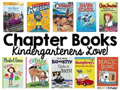 Chapter Books for Kindergarten #SimplyKInder