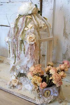 Wedding birdcage card box white wooden by AnitaSperoDesign on Etsy, $220.00