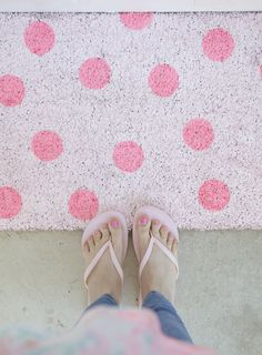 Sometimes it's REALLY fun to think of DIY projects you would see and instantly want to be that person's friend! ;) Seriously, why doesn't anyone make a PINK polka dot mat already?!!! It's times like this that I dream of the day we release a BFFF product line for you guys to have right …