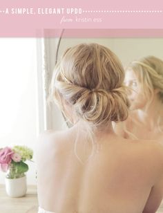 How to get an easy and elegant updo for your next party that takes just minutes to create from The Beauty Department. Wedding Hair And Makeup, Bridal Hair, Hair Makeup, Great Hairstyles, Wedding Hairstyles, Hairstyle Ideas, Style Hairstyle, Vintage Hairstyles, Bridesmaid Hair