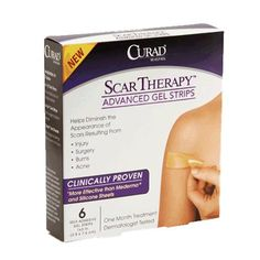 Medline Curad Advanced Scar Therapy Gel Strips