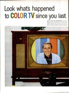 When COLOR TV's were furniture...