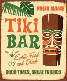 Custom Name - Tiki Bar Poster. $ 15.00, via Etsy.