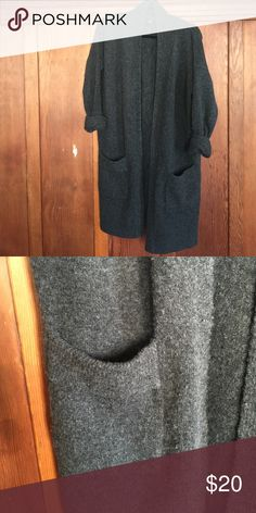 Ann Taylor Long Cardigan Long and warm; pilling throughout Sweaters