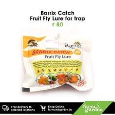 Barrix Catch Fruit Fly Lure for trap Visit our online store to shop and view more products. https://farmandgarden.in/ Or WhatsApp on + 91 9061314111 or Inbox us for details. #FruitFlyLureOnline #GardeningToolsOnlineIndia
