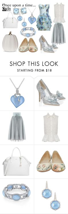 """""""Cinderella"""" by annabellewren ❤ liked on Polyvore featuring Jimmy Choo, Alice + Olivia, DKNY, Camper, 1928, Judith Ripka, Once Upon a Time, DayToNight, disney and cinderella"""