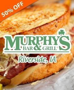 Check out this deal from TownWild - 2 Options to Spend on Food & Drink for Dinner or  for Lunch at Murphy's Bar and Grill