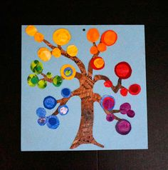 """that artist woman: Colour Wheel Trees - May also do this with just the """"warm colours"""" for Fall!"""