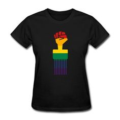 Rainbow Afro Pick