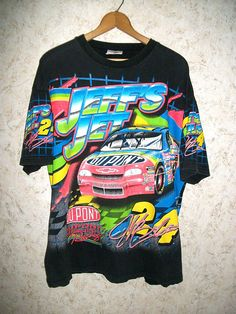 Your place to buy and sell all things handmade Nascar T Shirts, Jeff Gordon, Vintage Outfits, Vintage Clothing, Printed Tees, Mens Xl, I Dress, Street Wear, Graphic Sweatshirt