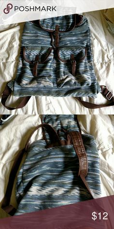 Boho backpack Aztec backpack from Target! Gently used, clean in the inside! Outside shows a little wear such as mild piling as expected! No stains or holes. Very spacious and stylish! Mossimo Supply Co. Bags Backpacks