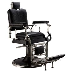 b6b11ace5eb0 Professional-Reclining-Crocodile-Barber-Chair-Antique-Classic-Vintage-