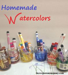 how to make homemade watercolor paints from dried up markers