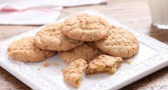 It's easy to sneak some chickpeas into these delicious peanut butter cookies.