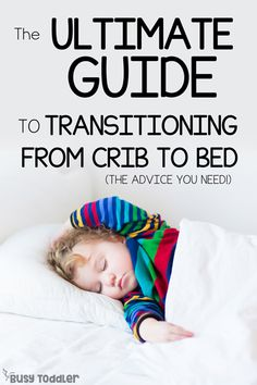 great tips for transitioning from crib to bed. Make it a smooth transition with these simple ideas and helpful tips on moving to a big kid bed. Kids Sleep, Baby Sleep, Child Sleep, New Parent Advice, Parenting Advice, Single Parenting, Toddler Preschool, Toddler Activities, Family Activities