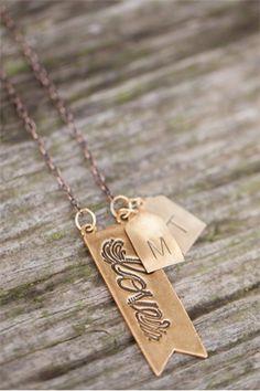 gold love banner necklace | Lisa Leonard Designs