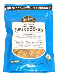 100% Organic * Original Super Cookies by GO RAW (Ingredients: Organic Coconut, Sprouted Organic Sesame Seeds, Organic Dates) NO SUGAR
