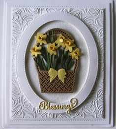 Hi crafters! I know it is too late for Easter, but with a small sentiment change, this card is just a gorgeous spring basket ful...