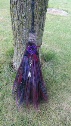 witchy things Purple Wedding Broom Handfasting Besom Witch by WayOfTheCauldron Wedding Invitation an Wedding Broom, Wiccan Wedding, Wedding Ceremony, Comic Anime, Wiccan Crafts, Witch Costumes, Witch Broom, Witch Aesthetic, Maquillage Halloween