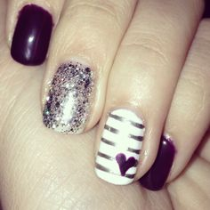 Awesome purple gel nail polish:) #gel  #manicure