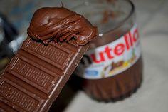 Les tags les plus populaires pour cette image incluent : nutella, chocolate et food