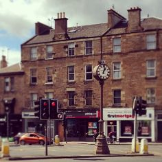 Tollcross, Edinburgh, featuring your's truly and the famous Tollcross Clock.