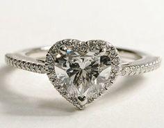 heart shaped ringBling Ideas Heart Rings Heart Shape Blue Diamonds ...