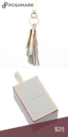 "LC LAUREN CONRAD Metallic Tassel Key Fob Chain NWT Update your look with this fantastic LC Lauren Conrad metallic tiered tasseled key chain. The lobster-claw clasp easily attaches to your bag and more.  COMES IN LAUREN CONRAD GIFT BOX  PRODUCT DETAILS Dimensions: 4"" x .75"" Clasp: lobster-claw Plating: rose gold tone Material: faux leather Care: wipe clean with soft, damp cloth LC Lauren Conrad Accessories Key & Card Holders"