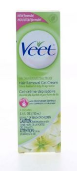£2.99 - Veet 3 Minute Hair Removal Gel Cream Shea Butter Lily Fragrance 150ml Get touchably smooth skin with VEET Hair Removal Gel Cream for Dry Skin, enriched with Shea Butter and moisturiser complex It removes hair effectively without cutting it, so hair grows back feeling softer, and leaves skin moisturised.