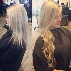 Great lengths extensions before and after