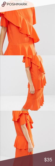 Asos Modern Mini Tea Dress Dashing and fringe fun....make this beauty a part of your collection. A pop of color to brighten up any closet. ASOS Dresses Midi