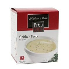 These high-protein Protein Diet Soup - Cream of Chicken from Pro-Amino are low in calories, fat free and packed with 15 grams of protein per serving. Weight Loss Vegetable Soup Recipe, Weight Loss Soup, Rice Noodle Soups, Soup Mixes, Low Fat Diets, Crock Pot Soup, Chicken Flavors, Cream Of Chicken, High Protein Recipes