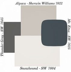 Alpaca paint color SW 7022 by Sherwin-Williams. View interior and exterior paint… Alpaca paint color SW 7022 by Sherwin-Williams. View interior and exterior paint colors and color palettes. Get design inspiration for painting projects. Exterior Paint Schemes, Exterior Paint Colors For House, Interior Paint Colors, Paint Colors For Home, Exterior Colors, Home Interior Design, Interior And Exterior, Modern Exterior, Outdoor Paint Colors
