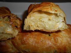 Εικόνα Greek Recipes, Pie Recipes, Deserts, Food And Drink, Potatoes, Bread, Cheese, Snacks, Chicken