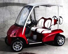 Garia Golf Cart. This valentines gift would wow your golfer! Re-pinned by www.apebrushes.com. GREENS BRUSHES THAT REALLY WORK!