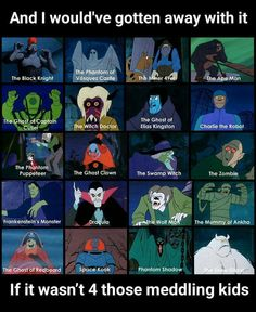 Untitled — retrogasm: Scooby Doo villains It's always Mr. Old Cartoons, Classic Cartoons, Cartoon Shows, Cartoon Characters, Scooby Doo Tattoo, Scooby Doo Mystery Incorporated, Drawn Art, Saturday Morning Cartoons, Retro