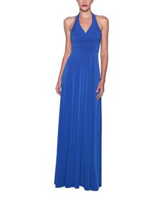 Look what I found on #zulily! Dark Blue Halter Maxi Dress #zulilyfinds