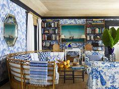 "Amanda Lindroth on ""Island Hopping"" Again Rattan Sofa, Wicker, Top Interior Designers, Indoor Outdoor Living, Big Houses, Portfolio Design, Palm Beach, Furniture Design, Stuffed Mushrooms"