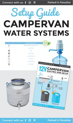 This is the perfect DIY guide to installing a campervan water system. It shows you how to collect water and install a gravity-fed sink, hand sink pump, foot sink pump and 12V electric sink pump. Great for any #vanlife kitchen setup with tons of ideas and hacks for any RV road trip! via @parkedinparadise