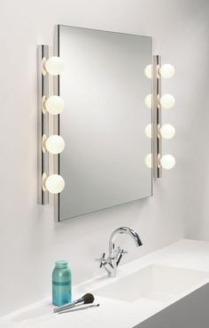 dressing room mirror light available in a 4 or 5 light option ref mikcaba from astro lighting evros light crystal bathroom