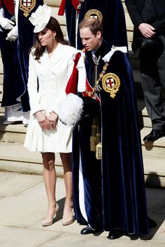 The Duke and Duchess of Cambridge attend the Order of The Garter Service