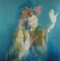 """Saatchi Online Artist Laura Beatrice Gerlini; Painting, """"Tribute to Kazuo Ohno: """"You are happy because you are free"""""""" #art"""