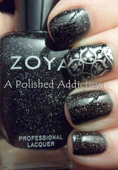 @Zoya Nail Polish with stamping