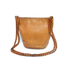 Fendi Braided Shoulder Strap Leather Bag Cross-body / Vintage / Authentic by MySunnyStore on Etsy