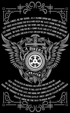 Motorcycle Memes, Biker Quotes, or Rules of the Road - they are what they are. A Biker's way of life. Motorcycle Memes, Motorcycle Clubs, Motorcycle Touring, Girl Motorcycle, Bikers Prayer, Biker Tattoos, Bike Quotes, V Max, Harley Davidson Motorcycles