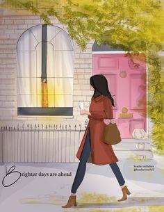 Hello Weekend, Art Deco Posters, Yellow Painting, Fall Season, Watercolor Art, Illustration, Aurora Sleeping Beauty, Seasons, Photo And Video
